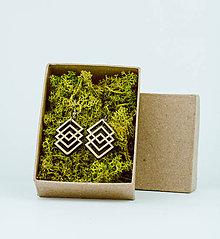 Náušnice - Drevené naušnice - 11666886_