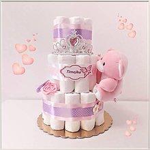 "Detské doplnky - Plienková torta ""EASY"" ružová - 11668268_"