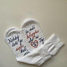 Obuv -  Maľované ponožky pre super KOLEGYŇU (35-38) - 11668140_
