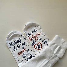 Obuv - Maľované ponožky pre super KOLEGYŇU - 11668141_