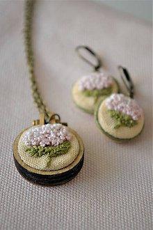 """Sady šperkov - Set náušnice a náhrdelník, """"Hortenzie"""" - 11666586_"""