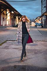 Kabáty - Jarný kabát károvaný - 11668633_