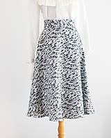 """Sukne - """"Upcy"""" áčková sukňa s kvietkami - 11669157_"""
