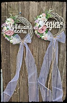 Dekorácie - Svadobné venčeky na dvere - 11670744_