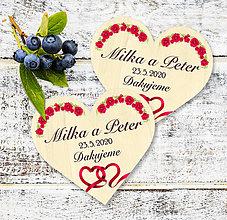 Darčeky pre svadobčanov - Svadobná magnetka - 11671070_