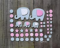 Detské doplnky - dievčenské drevené nálepky na stenu - 11670139_