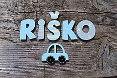Detské doplnky - menovka pre Riška - 11670274_