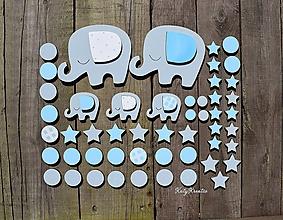 Detské doplnky - chlapčenské drevené nálepky na stenu - 11670187_