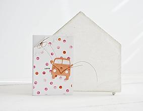Papiernictvo - Svadobný pozdrav - retro autobus oranžový - 11670970_