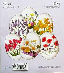 Pomôcky/Nástroje - Zmršťovacie košieľky na vajíčka, 12 ks  (kvety - mak, tulipán..) - 11671065_