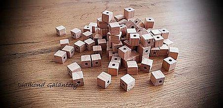 Korálky - Korálka kocka 11 mm - Natur - 11669679_