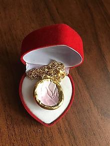 Náhrdelníky - jemne ružový/keramika/ - 11671310_