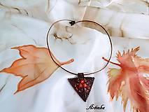 Šály - SET : hodvábny šál+šperk - 11669634_
