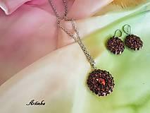 Šály - SET : hodvábny šál + šperk - 11669689_