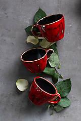 Nádoby - Červené hrnčeky - 11670056_