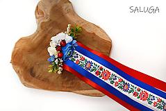Ozdoby do vlasov - Hrebienok do vlasov - so stuhami - folklórny - slovenský - 11672070_