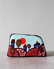 Dekorácie - Maľovaný kameň - Krajinka - 11672089_