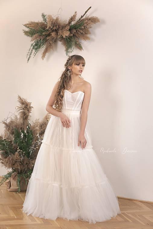 Dvojdielne svadobné šaty - korzet a sukňa
