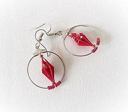 Náušnice - Origami náušnice, Diamant v kruhu - 11671684_