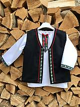 Detské oblečenie - Detská folklórna vestička čierna  - 11672687_