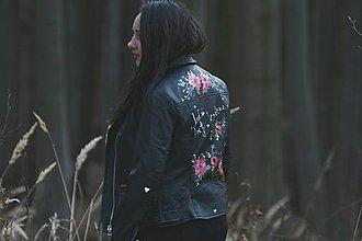 Kabáty - Maľovaná bunda - keď sú kvety krásne - 11670034_