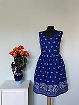 Šaty - Modré šaty bordúra - 11669969_
