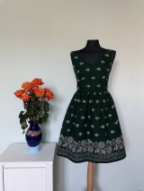 Šaty - Šaty bordúra zelené - 11670097_