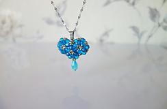 Náhrdelníky - Náhrdelník Nebeské srdce + náušnice zdarma - 11670258_