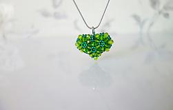Náhrdelníky - Zelené srdce+náušnice zdarma - 11670283_