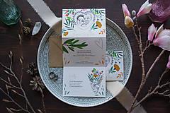 - Svadobné oznámenie - Leporelo obojstranné, CESTA DO LESA - 11670765_