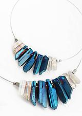 Náhrdelníky - Ľadová Kráľovná, krištáľový náhrdelník - 11671403_