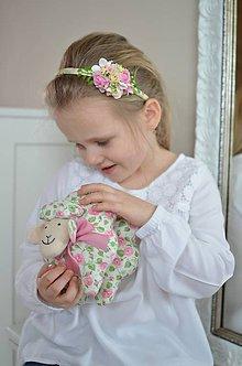 Hračky - Ružičková ovečka - 11673988_