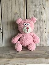Hračky - Macko ružový - 11674334_