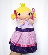 Hračky - Maňuška princezná - v ružovej sukničke - 11674525_