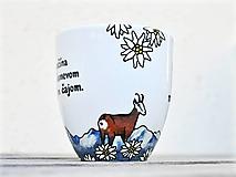 Nádoby - Maľovaný porcelánový hrnček - Tatry - 11674275_