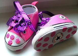 Topánočky - Trblietavé tenisky pre princeznú - 11673595_