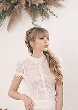 Šaty - Svadobné šaty s golierom – body a sukňa - 11674963_