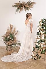 Šaty - Svadobné šaty s golierom – body a sukňa - 11674964_