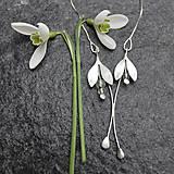 - Snežienky - náhrdelník - 11675219_