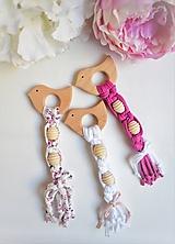 Hračky - -Hryzadlo/hmatová hračka vtáčik- - 11674138_