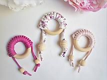Hračky - -Hryzadlo/hmatová hračka kruh- - 11674668_