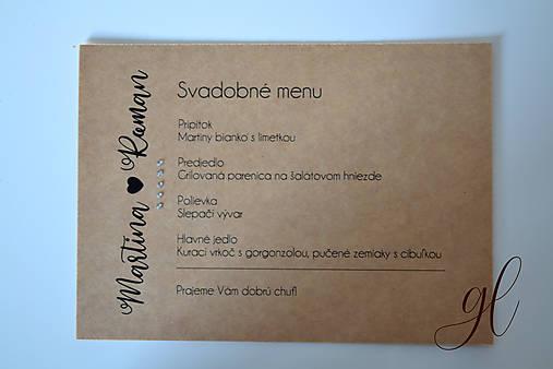 Svadobné tlačoviny časová os (Svadobné menu)