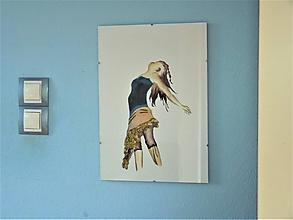 """Obrazy - """"Sloboda"""", dievča v korzete, akvarel - 11673405_"""