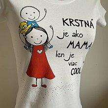 Tričká - Originálne maľované tričko pre KRSTNÚ/ KRSTNÉHO s 2 postavičkami (KRSTNÁ +chlapček 1) - 11673983_