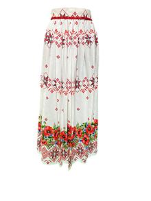Sukne - Dlhá folklórna sukňa - 11673179_