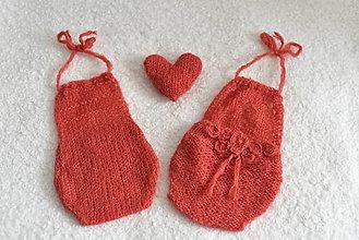 Detské oblečenie - Body korálovočervené na fotenie novorodencov - 11673002_