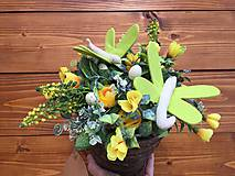 Dekorácie - kvetináč plný kvetov.... - 11673339_
