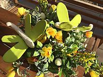 Dekorácie - kvetináč plný kvetov.... - 11673347_