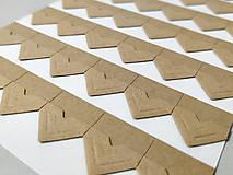 Fotorožky do fotoalbumov / 42 ks (hnedé (craftové))