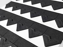 Papier - Fotorožky do fotoalbumov / 42 ks (čierne) - 11674826_